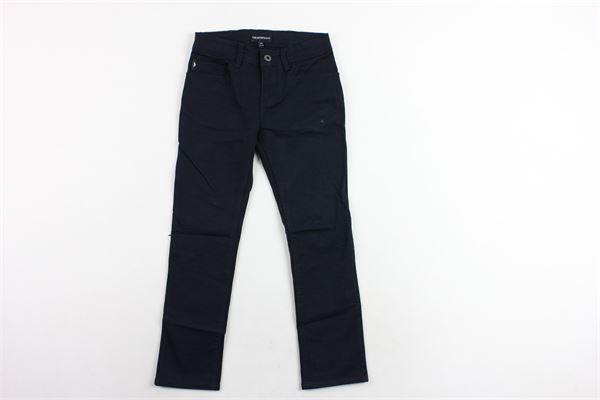 pantalone 5 tasche tinta unita EMPORIO ARMANI | Pantaloni | 8N4J064NGGZBLU