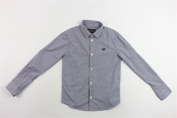 camicia m/l microfantasia EMPORIO ARMANI | Camicie | SZ4C09BLU