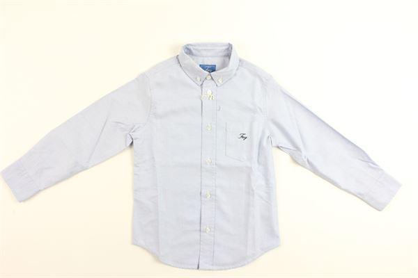 camicia m/lunga con taschino FAY | Camicie | 9D5000DB400602AZZURRO