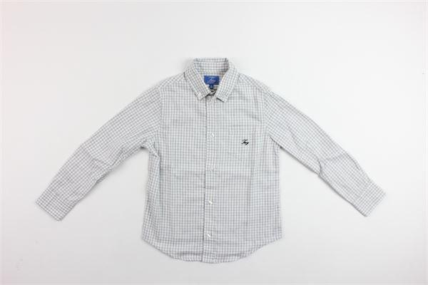 camicia quadrettini con taschino FAY | Camicie | NDHA137741LGRIGIO