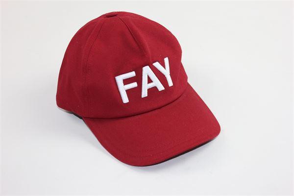 cappello berretto tinta unita stampa fay FAY | Cappelli | NFAF3379600ROSSO
