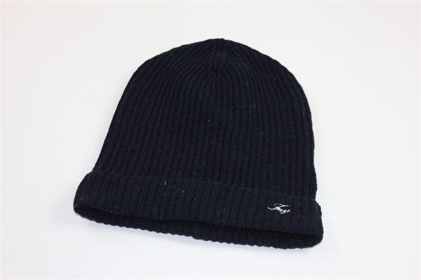 cappello tinta unita con stampa fay FAY | Cappelli | NFJF3357840BLU