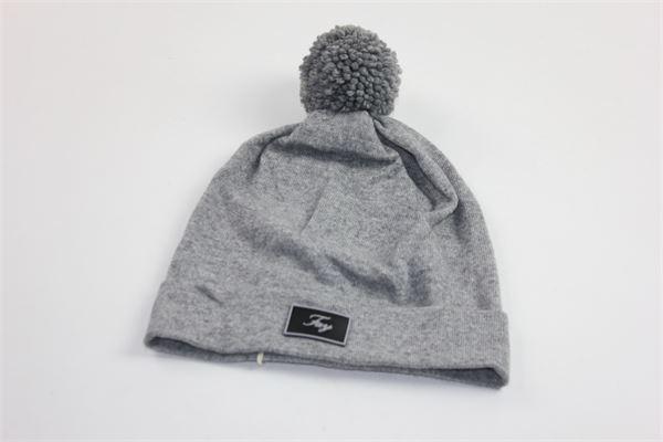 cappello tinta unita con pon pon FAY | Cappelli | NFOF3379700GRIGIO