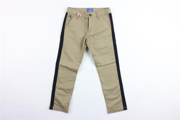 pantalone tinta unita con profili in contrasto FAY | Pantaloni | NUG80377320BEIGE