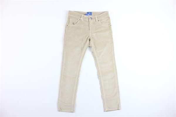 pantalone 5 tasche in velluto FAY | Pantaloni | NUH8237730TBEIGE
