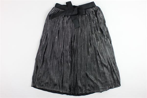 gonna lunga plisset laminata e cintura FUN & FUN | Gonne | FNJSK2005ARGENTO