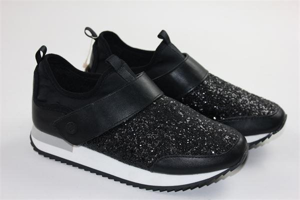 scarpa mopdello sportivo con strappo e profili glitterati GIOSEPPO | Scarpe | 41841NERO