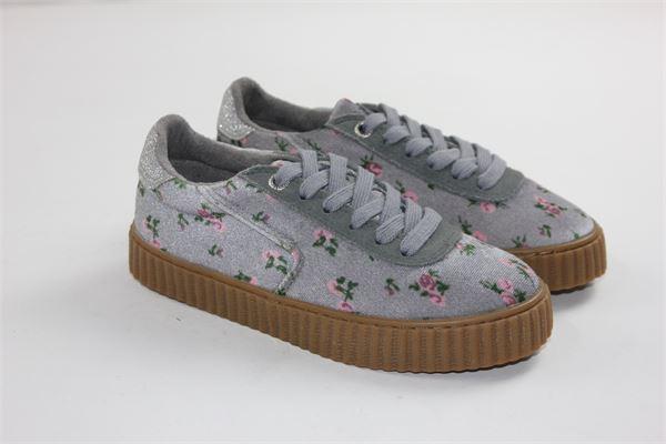 scarpa bassa allacciata stampa a fiori GIOSEPPO | Scarpe | 41855GRIGIO