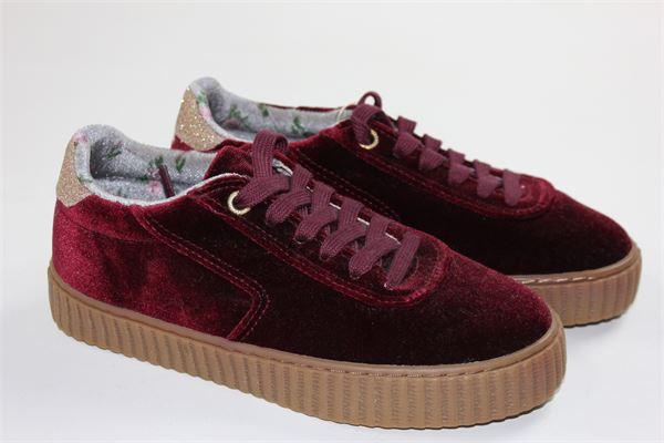 scarpa bassa allacciata in velluto tinta unita GIOSEPPO | Scarpe | 41856BPORDEAUX