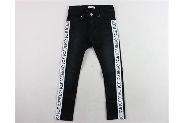 jeans con profili iceberg ICEBERG | Jeans | PTICE183305JFNERO