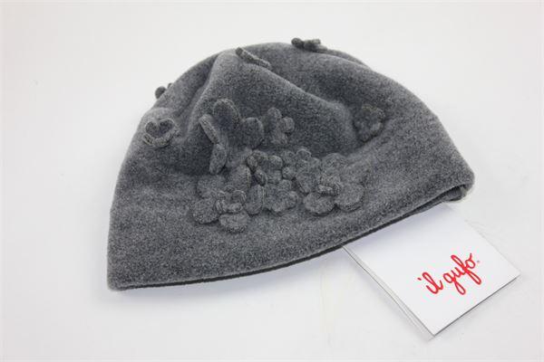 cappello tinta unita applicazioni fiori IL GUFO | Cappelli | A17EO199M0079GRIGIO