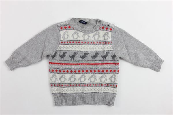 maglia tricot con stampa IL GUFO | Maglie | A18MA227EM620ROSSO
