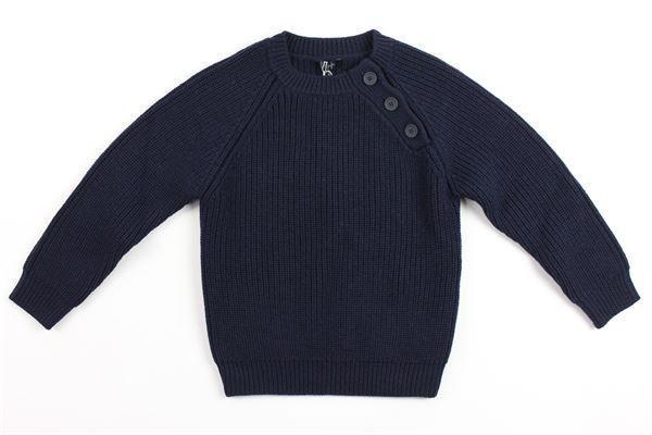 maglia tricot con bottoni IL GUFO | Maglie | A18MA248EM405BLU