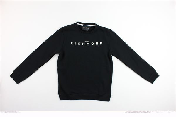 felpa girocollo con stampa richmond JOHN RICHMOND | Felpe | RBA18110FENERO