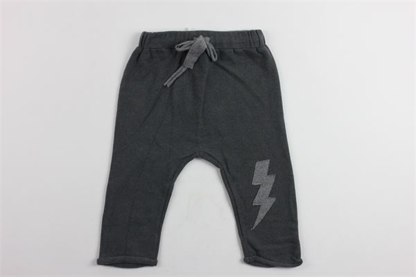 pantalone in felpa con stampa fulmine KID'S COMPANY | Pantaloni | PTKC183454BMGRIGIO