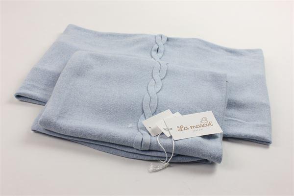 coperta culla cotone caldo tinta unita LA MASCOTT | Coperte | 34/6201058AZZURRO