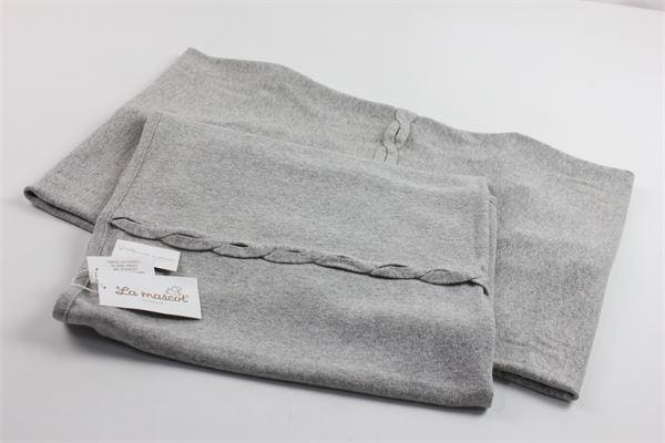 coperta culla cotone caldo tinta unita LA MASCOTT | Coperte | 34/6201058GRIGIO