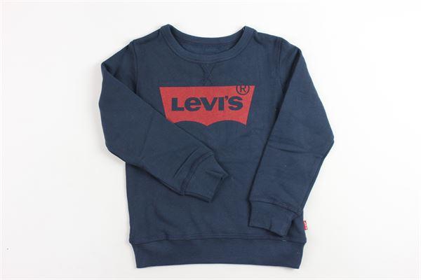 felpa girocollo con stampa levi's LEVI'S | Felpe | N91500JBLU