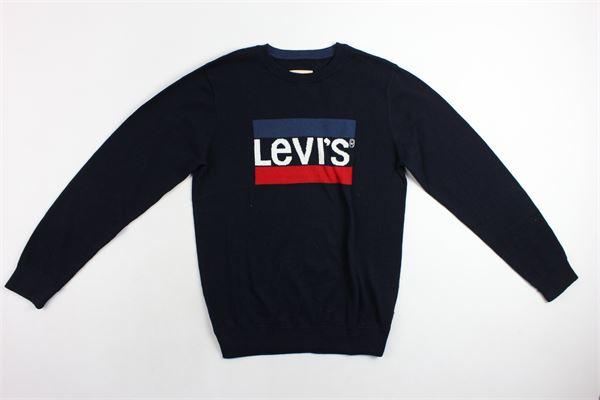 maglia girocollo con stampa levi's LEVI'S | Maglie | NM18037BLU