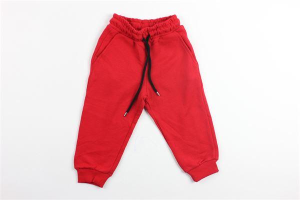 pantalone in felpa tinta unita MAKE MONEY NOT FRIENDS | Pantaloni | MB171004ROSSO