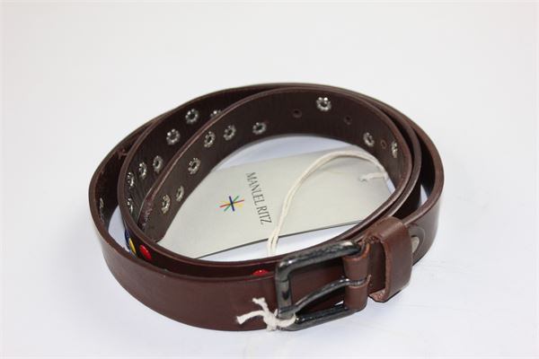 cintura con applicazioni MANUEL RITZ | Cinture | MR0551MARRONE
