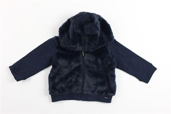 felpa in pelliccia sintetica con zip e cappuccio MAYORAL | Felpe | 2498BLU