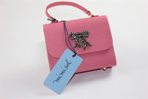 borsa modello pochette tinta unita con applicazione MIMISOL | Borse | 18IMA023STROSA