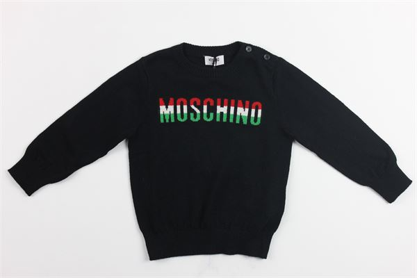 maglia girocollo stampa moschino MOSCHINO | Maglie | MVW00GNERO