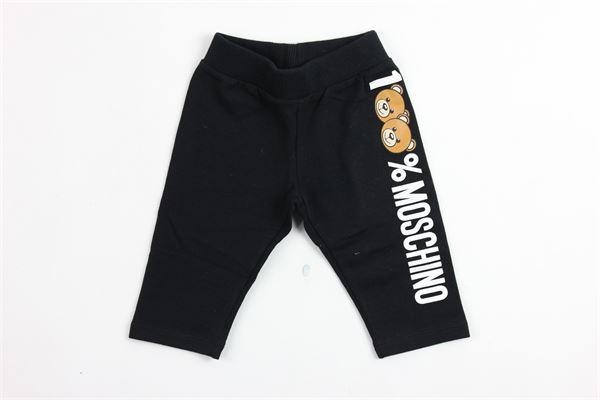 pantalone in felpa stampa moschino MOSCHINO   Pantaloni   MWP01FNERO
