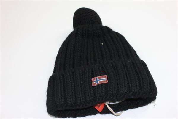 cappello con pon pon NAPAPIJRI | Cappelli | N0Y5YK041NERO