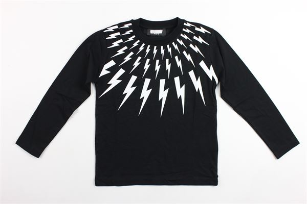 shirt m/l con stampa fulmini NEIL BARRETT | Shirts | 016206NERO