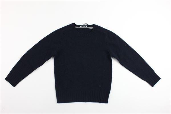 maglia girocollo tinta unita PAOLO PECORA | Maglie | PP1416BLU