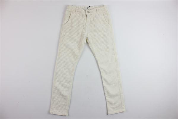 pantalone tasca america in velluto PAOLO PECORA | Pantaloni | PP1465BIANCO