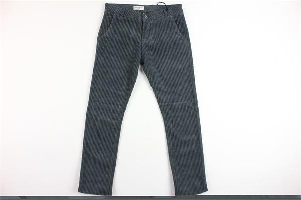 pantalone tasca america in velluto PAOLO PECORA | Pantaloni | PP1465GRIGIO
