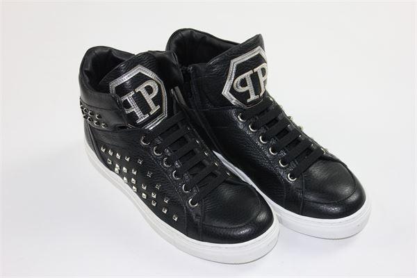 scarpe snickers alte con borchie PHILIPP PLEIN | Scarpe | A18SBSC0055NERO
