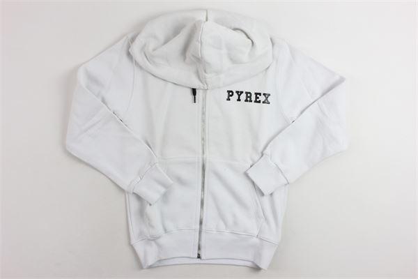 felpa con zip e cappuccio PYREX | Felpe | 008572BIANCO