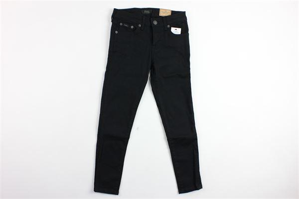 jeans 5 tasche tinta unita RALPH LAUREN | Jeans | 313711504001NERO