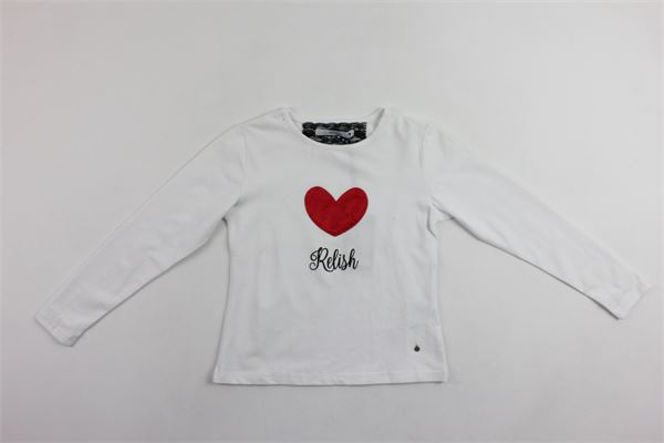 shirt m/l con stampa cuore RELISH   Shirts   TSRE183411BFBIANCO