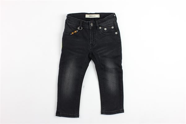 jeans 5 tasche con applicazione SIVIGLIA   Jeans   S-029-P021B-70148G-029NERO