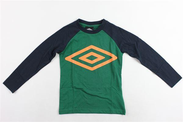 shirt m/l con stampa e maniche in contrasto UMBRO | Shirts | 018025VERDE