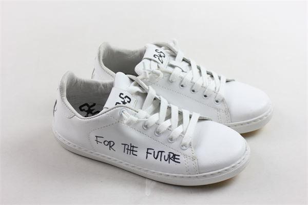 sneakers in pelle tinta unita con stampa 2STAR | Scarpe | 2SB1350BIANCO