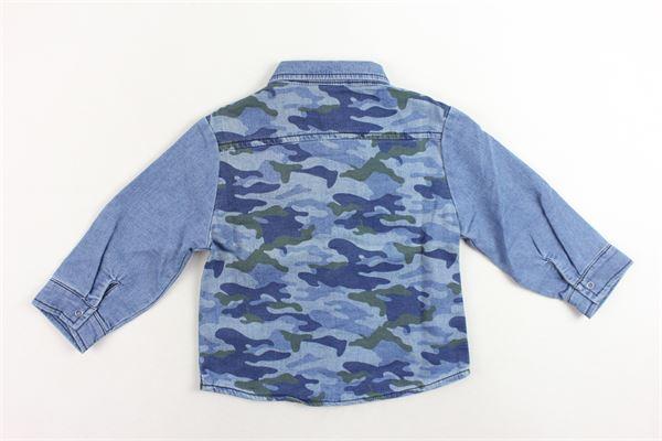 camicia in denim fantasia mimetica 3 POMMES | Camicie | 13023/1BLU