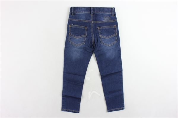 jeans 5 tasche tinta unita girovita regolabile 3 POMMES | Jeans | 22023/1BLU