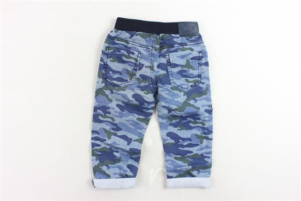 pantalone 5 tasche elastico ijn vita fantasia mimetica 3 POMMES | Pantaloni | 22073/1BLU