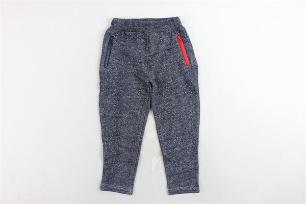 pantalone tuta garzato ttinta unita 3 POMMES | Pantaloni | 23003/1BLU