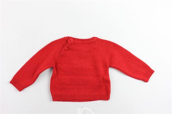 maglione girocollo tinta unita con stampa A&J | Maglie | B01.AJ.546ROSSO
