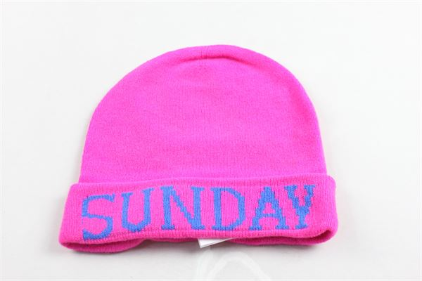 cappello in lana tinta unita con stampa ALBERTA FERRETTI | Cappelli | 020299FUCSIA