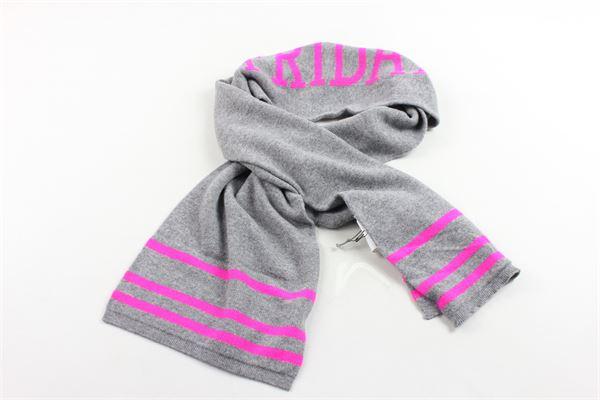 sciarpa in lana tinta unita con stampa ALBERTA FERRETTI | Sciarpe | 020300GRIGIO