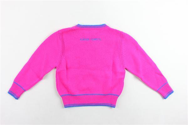maglione corto in lana tinta unita con stampa ALBERTA FERRETTI   Maglie   020304FUCSIA