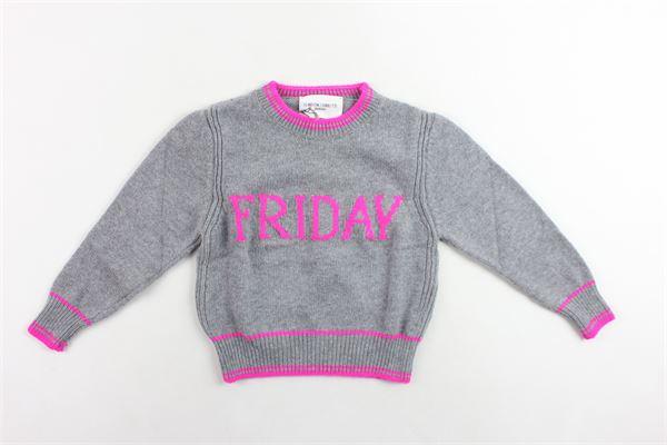 maglione corto in lana tinta unita con stampa ALBERTA FERRETTI | Maglie | 020304GRIGIO